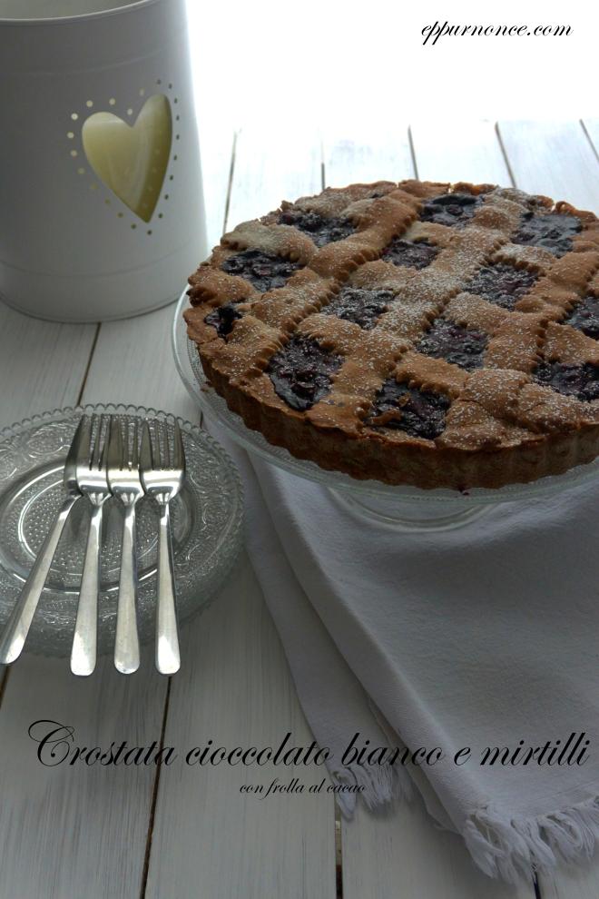 crostata mirtilli e cioccolato bianco